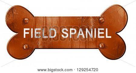 Field spaniel, 3D rendering, rough brown dog bone