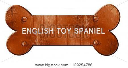 English toy spaniel, 3D rendering, rough brown dog bone