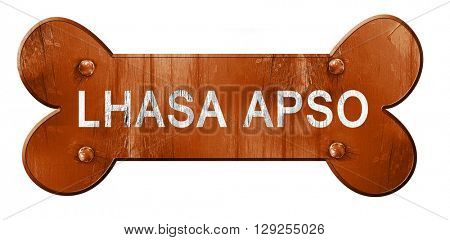 Lhasa apso, 3D rendering, rough brown dog bone