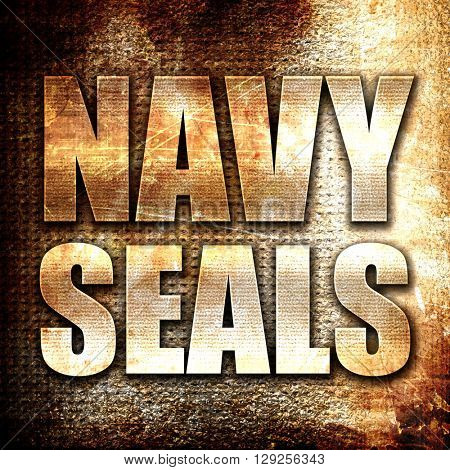navy seals, rust writing on a grunge background