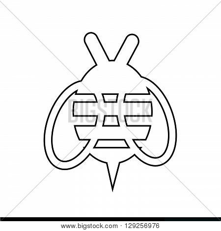 an images of Bee Icon Illustration design