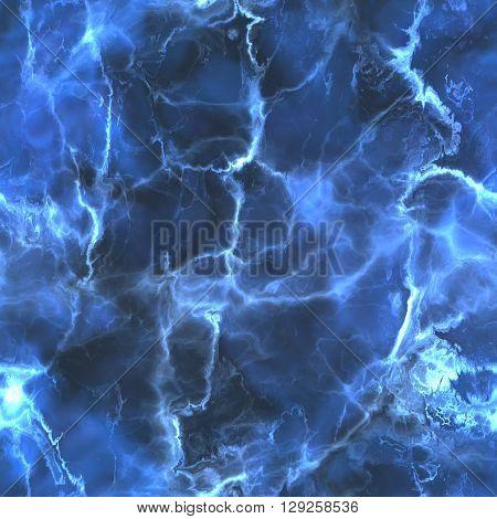 Tileable blue marble texture background. Fractal illustration