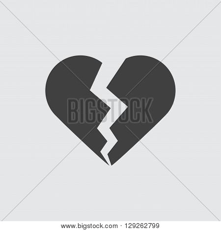 Broken heart icon illustration isolated vector sign symbol