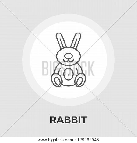 Rabbit toy icon vector. Flat icon isolated on the white background. Editable EPS file. Vector illustration.