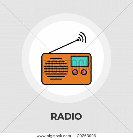 Radio icon vector. Flat icon isolated on the white background. Editable EPS file. Vector illustration.