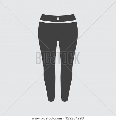 Woman trousers icon illustration isolated vector sign symbol