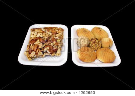 Cake And Nuts. Confectionery