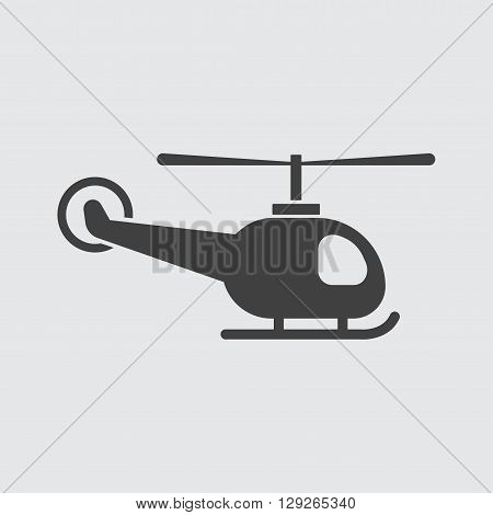 Helicopter icon illustration isolated vector sign symbol