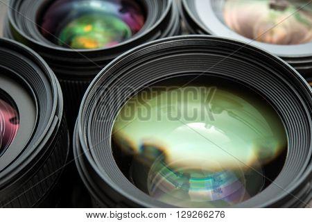 Photo lenses closeup