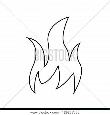 an images of Fire icon Illustration design