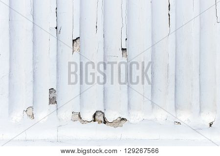Stucco white wall - background or texture