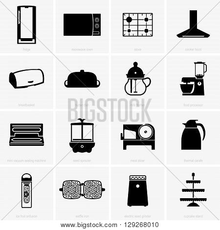 Set of kitchen objects ( shade pictures )