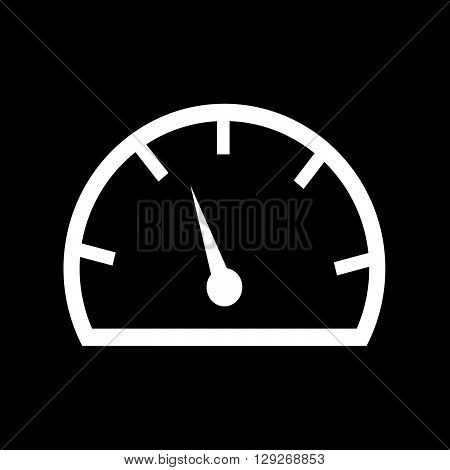 an images of Speedometer and tachometer icon Illustration design