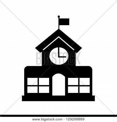 an images of School building icon Illustration design