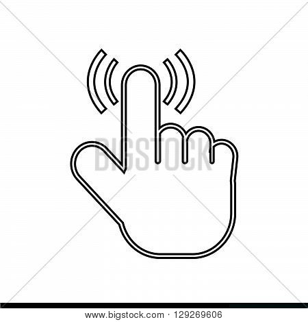 an images of cursor hand icon illustration design