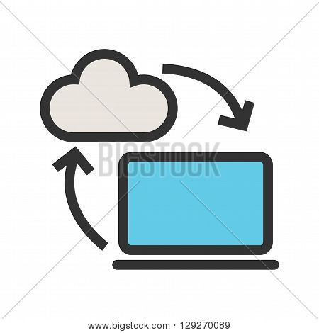Data, sharing, business  icon vector image. Can also be used for marketing. Suitable for use on web apps, mobile apps and print media.