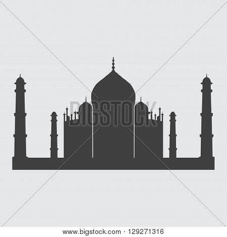 Taj Mahal icon illustration isolated vector sign symbol