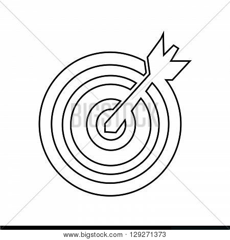 an image of target with dart icon illustration design