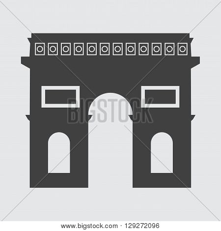 Triumphal Arch icon illustration isolated vector sign symbol