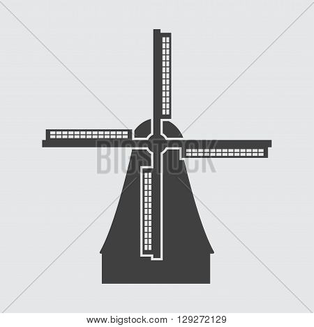 Windmill in Netherlands icon illustration isolated vector sign symbol