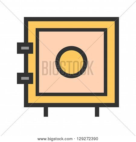 Vault, safe, locker icon vector image.Can also be used for security. Suitable for web apps, mobile apps and print media.