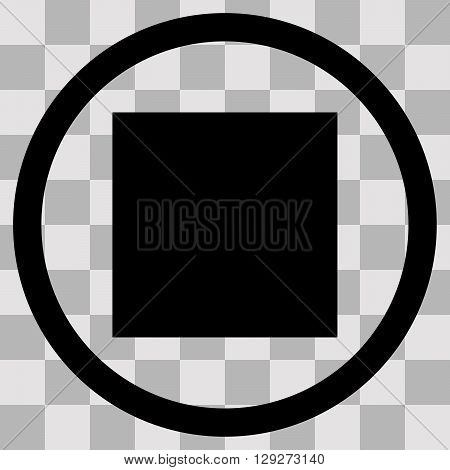 Vector Flat black singl icon pause on transparent background