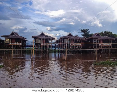 Inle Lake Resort in Shan state Myanmar