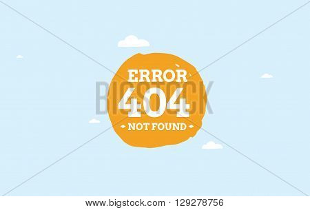 404 error web page. Background vector design. Page not found. Template with typography.