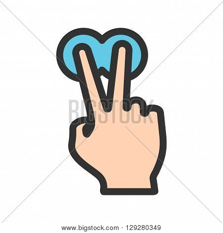 Touch, fingers, hold icon vector image.Can also be used for user touch gestures. Suitable for mobile apps, web apps and print media.