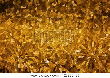 Various Shape Abstract Flowers In Brown Earth Tone Classic Vintage Background
