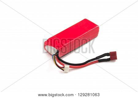 Lithium Polymer Battery pack on white background