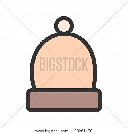 Warm, cap, head icon vector image. Can also be used for winter. Suitable for use on web apps, mobile apps and print media.