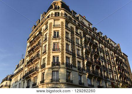 View of a building in Montmartre, Paris