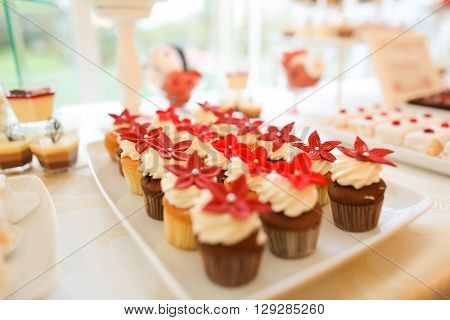 Desert Sweets On A Table At A Ceremony
