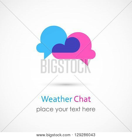 Vector illustration of a Weather Chat Icon
