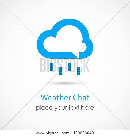 Vector illustration of a Weather Chat on white background
