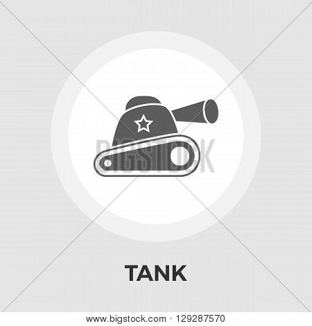 Tank toy icon vector. Flat icon isolated on the white background. Editable EPS file. Vector illustration.