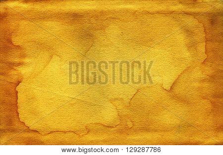 Vintage old worn paper blank background. Closeup