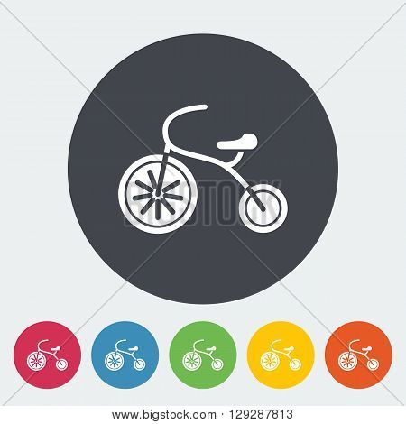 Tricycle icon. Flat vector related icon for web and mobile applications. It can be used as - logo, pictogram, icon, infographic element. Vector Illustration.