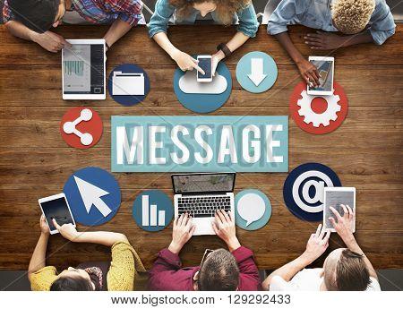 Message Online Internet Concept