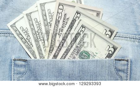 Money dollars bills of different denominations closeup