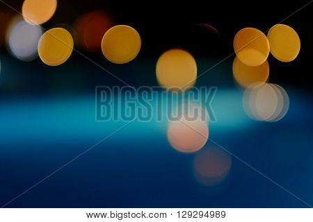 Colourful blured abstract night lights, bokeh. Abstract background