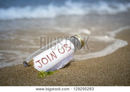Join Us Invitation In A Bottle