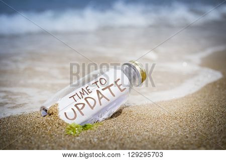 Update Concept Of Message In A Bottle
