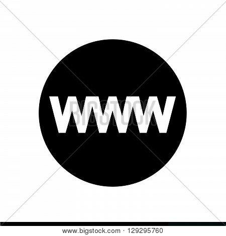 WWW sign icon World wide web symbol icon illustration design