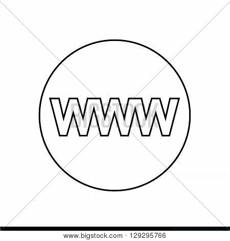 WWW sign icon World wide web symbol icon illustration design