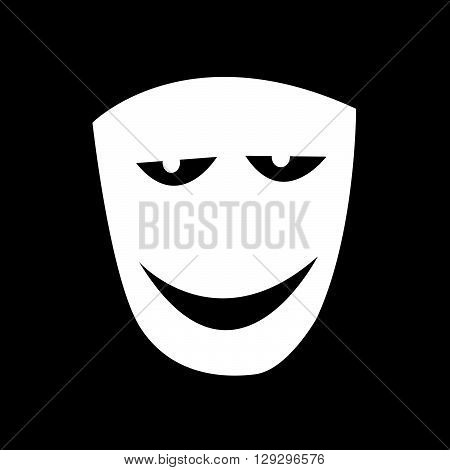 an images of Theater mask icon illustration design