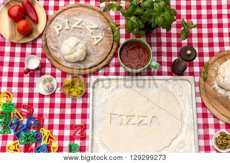 Cut Out Letters With Dough