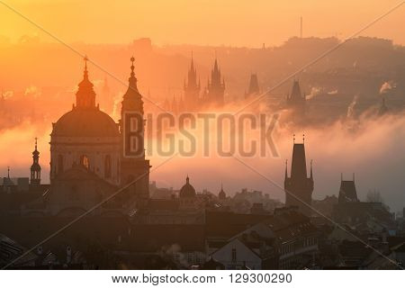 The Gothic Church Of Our Lady And St. Nicolas Church, Prague, Cz