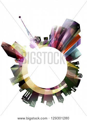 Illustration Featuring City Lights - eps10